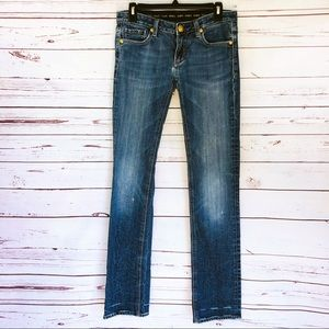 Express Rerock Straight Leg Jeans - Size 27